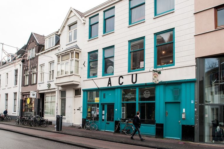 Het Utrechtse ACU (Auto Centrale Utrecht) werd veertig jaar geleden gekraakt. Beeld Wietse Pottjewijd