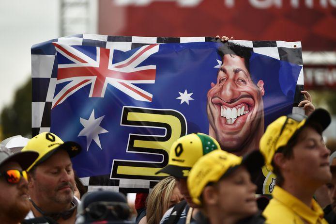 Fans van Daniel Ricciardo in Melbourne.