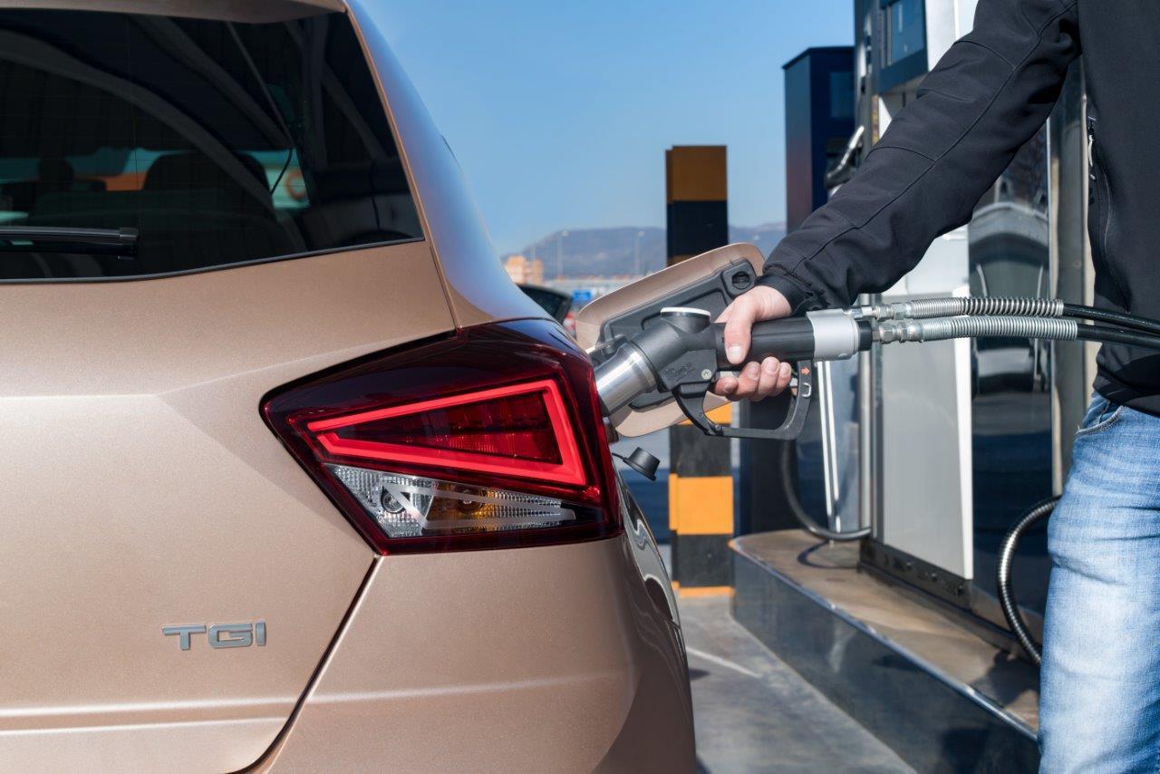 Seat is een van de merken die aardgasauto's af fabriek leveren