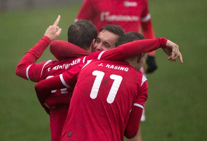 Joost Rasing scoorde voor AZSV.
