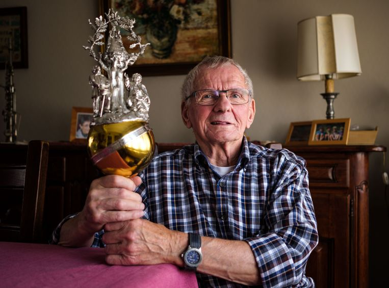 Julien Coeck in 2018, toen hij zich opmaakte voor zijn zeventigste bedevaart van Niel naar Scherpenheuvel.