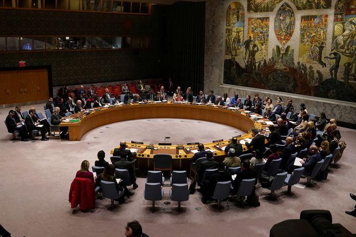 De VN-Veiligheidsraad in zitting op archiefbeeld.