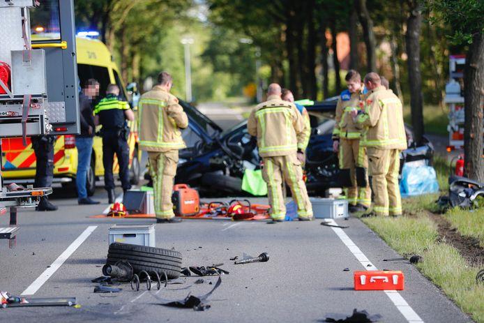 Twee auto's botsen in Valkenswaard.