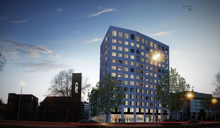 De Lins Tower, een van de projecten van Land Invest in Antwerpen.