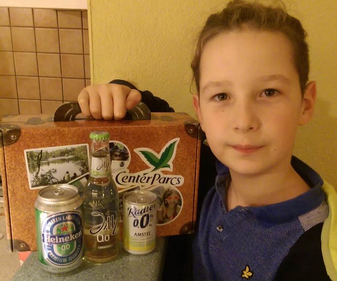 Otis met de alcoholvrije biertjes.