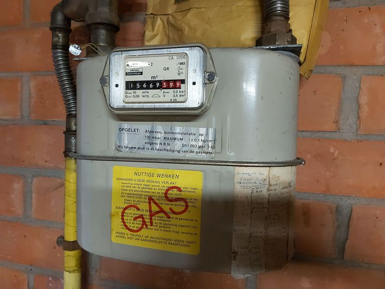 Een traditionele gasmeter