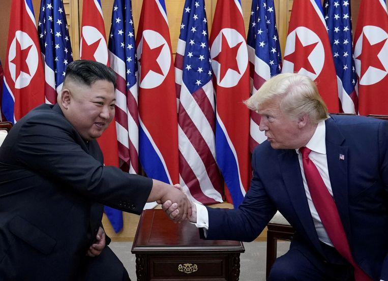 Archiefbeeld, de Amerikaanse president Donald Trump was de eerste president ooit die voet zette op Noord-Koreaanse bodem.
