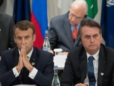 "Macron accuse Bolsonaro d'avoir ""menti"" et s'oppose à l'accord UE-Mercosur"