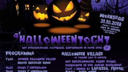 Halloweentocht met vuurshow
