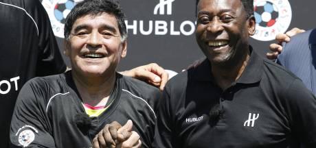 """L'ultime hommage de Pelé à Maradona: """"Je t'aime, Diego"""""""
