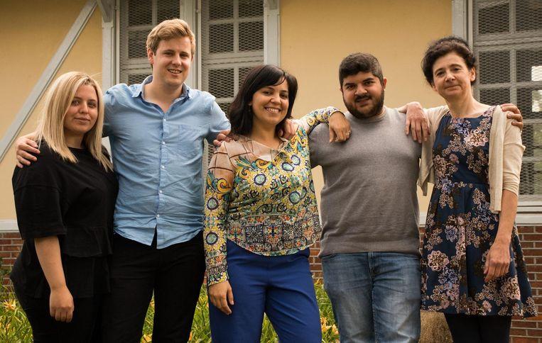 De top vijf van Groe Beringen: Meltem Rabia Dereli, Kobe Snyers, Meral Özcan, Irfan Oztas en Marga Leenen.