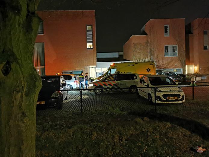 Hulpverleners aan het Morel in Wageningen.
