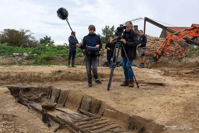 De filmploeg van IFFM aan het werk voor de nieuwe landschapsfilm die in het museum zal worden getoond.