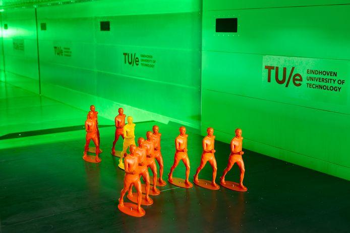 Test in windtunnel bij de Technische Universiteit Eindhoven (TU/e).