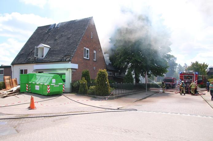 Er was sprake van een uitslaande brand in Putten