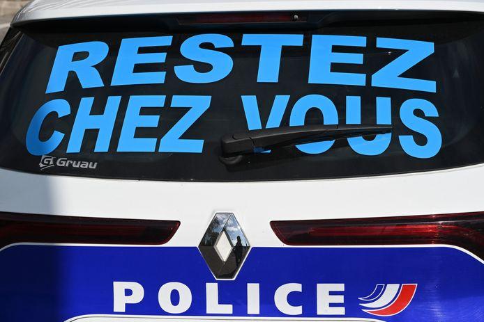 Een auto van de Franse politie.