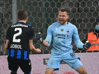 """Simon Mignolet zag Club winnen vanuit zijn zetel: """"Tijdens de match een en al zenuwen. Niets voor mij"""""""