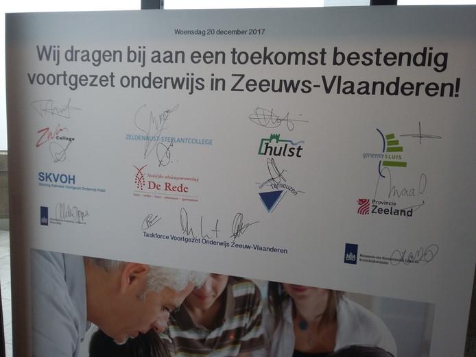 De handtekeningen van de betrokken partijen