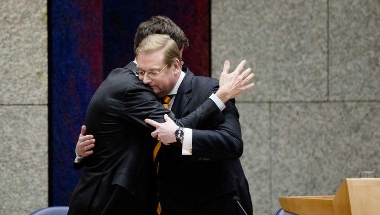 Minister Ard van der Steur nadat hij heeft gezegd dat hij aftreedt. Beeld ANP