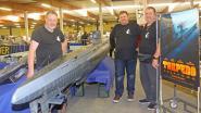Nagebouwde onderzeeër uit Vlaamse film Torpedo lokt nieuwsgierigen naar modelbouwbeurs