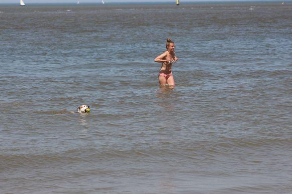 Zwemmen in zee: ook bij deze temperaturen is het na 18.30 uur verboden.