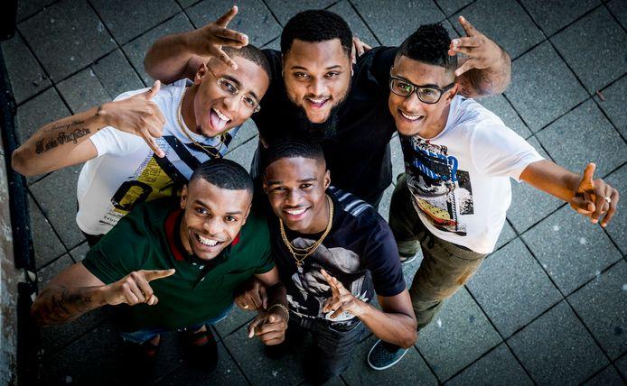 2016-08-17 20:48:54 ROTTERDAM - Portret van de Rotterdamse hiphopgroep Broederliefde. ANP KIPPA REMKO DE WAAL