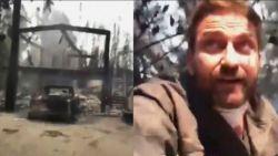 """""""300""""-acteur Gerard Butler toont zijn volledig verwoest huis door de bosbranden in Malibu"""