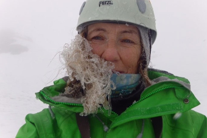 Jo Morgan bedwong 23 toppen van haar lijstje met 24 Nieuw-Zeelandse bergen boven de 3.000 meter.