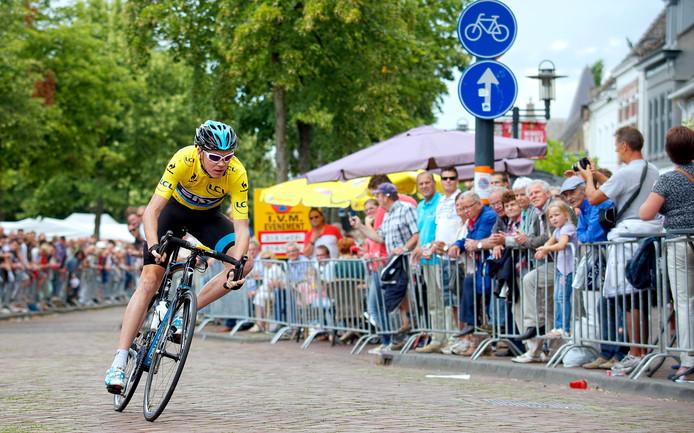 In 2013 kwam toenmalig tourwinnaar Chris Froome in Etten-Leur in actie, hier op de foto in de tijdrit.
