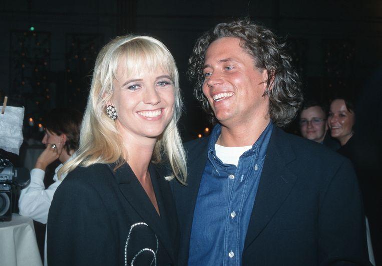 Linda de Mol met Sander Vahle in 2002.