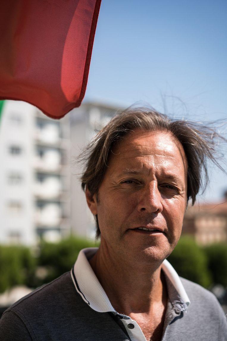 Giuseppe Cognigni, voorzitter van regionale Macerata-afdeling van Lega. Beeld Nicola Zolin