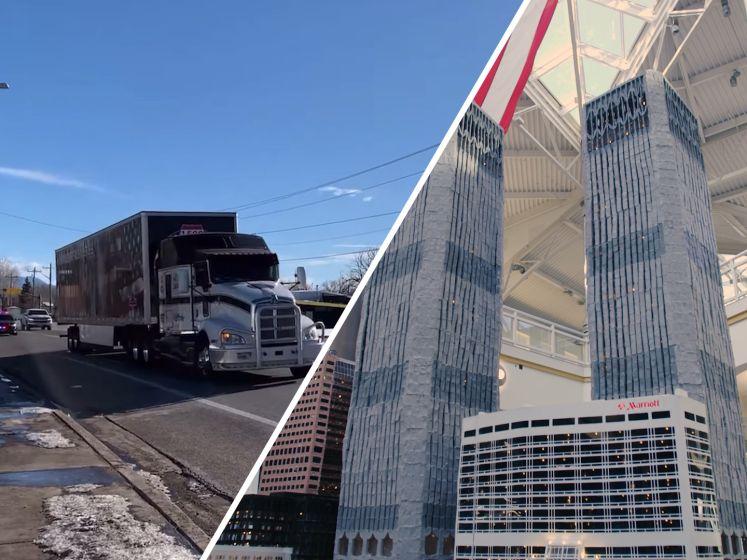 Twin Towers replica van Nederlandse Daan tentoongesteld in heel Verenigde Staten