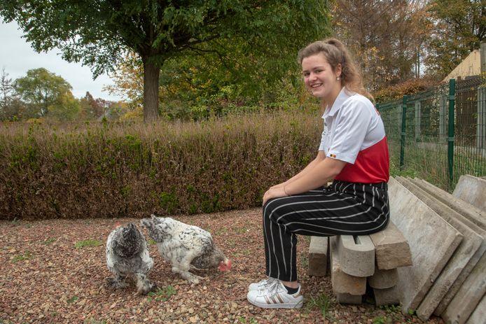 Gewichthefster Nina Sterckx (16) uit Laarne.