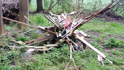 Wensboom gedeeltelijk vernield door vandalen