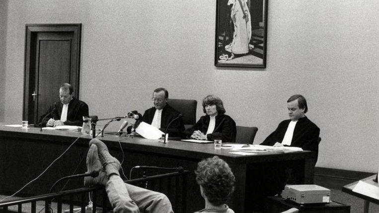 René R. in de rechtbank, 1988. Beeld Andere Tijden