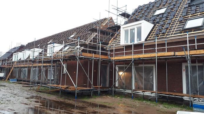 Bouw van CPO-woningen, in nieuwbouwwijk Rodenburg.