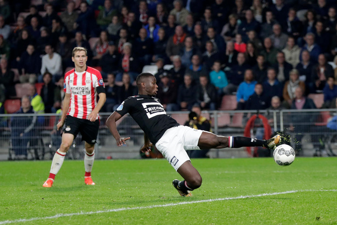 Beeld uit de thuiswedstrijd tussen PSV en Willem II (6-1)