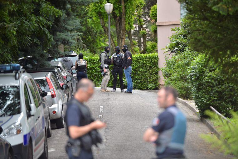 De verdachte werd maandag gearresteerd tijdens een grootschalige politieactie.