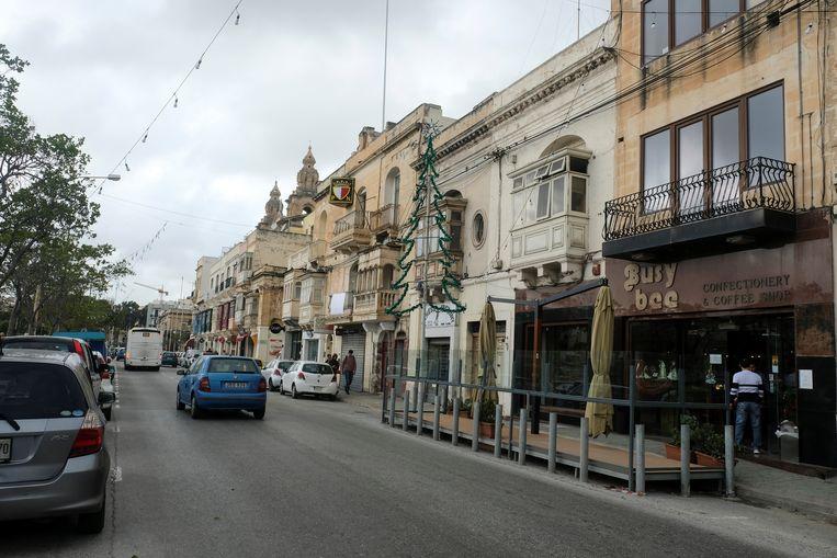Een winkelstraat in de nabijheid van hoofdstad Valetta