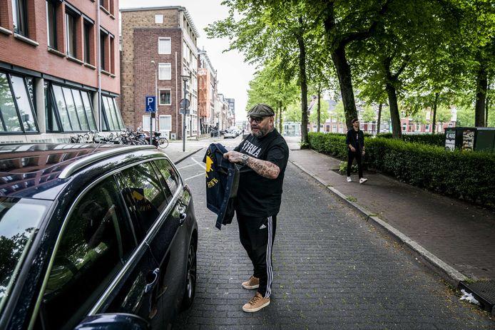 Voormalig No Surrender-voorman Henk Kuipers bij de rechtbank voor een getuigenverhoor, in mei dit jaar.