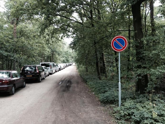 Het parkeerverbod bij Duinoord in Helvoirt.