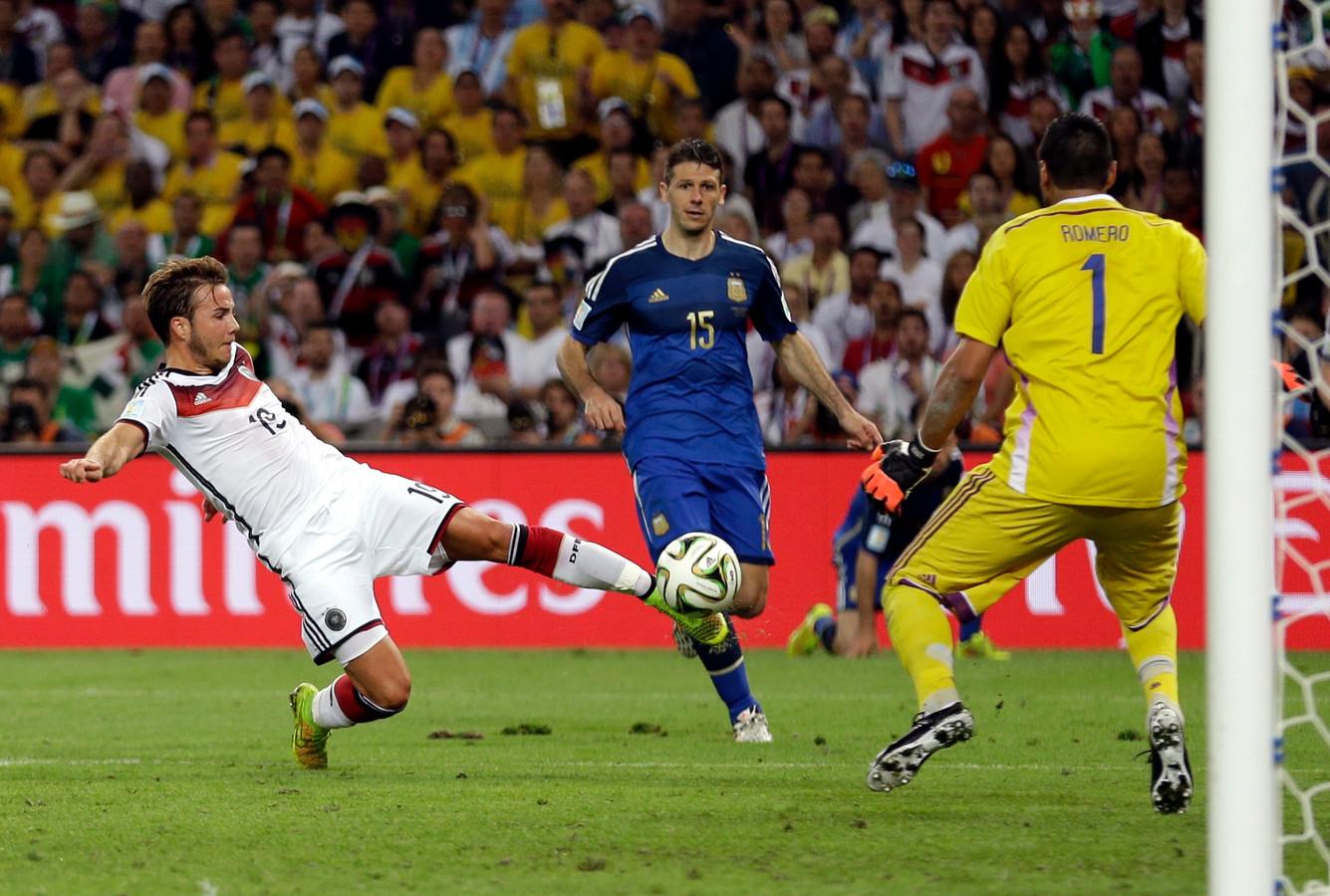 Mario Götze maakte op 13 juli 2014 de winnende goal namens Duitsland in de WK-finale tegen Argentinië.