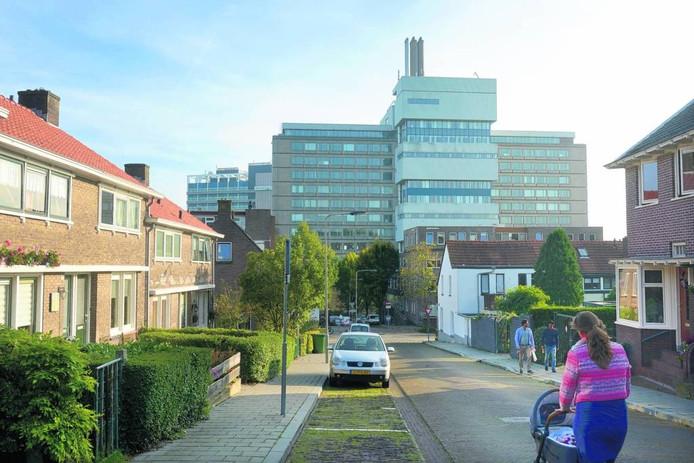 Het ING-gebouw aan de Velperweg gezien vanuit Klarendal. Foto Gerard Burgers