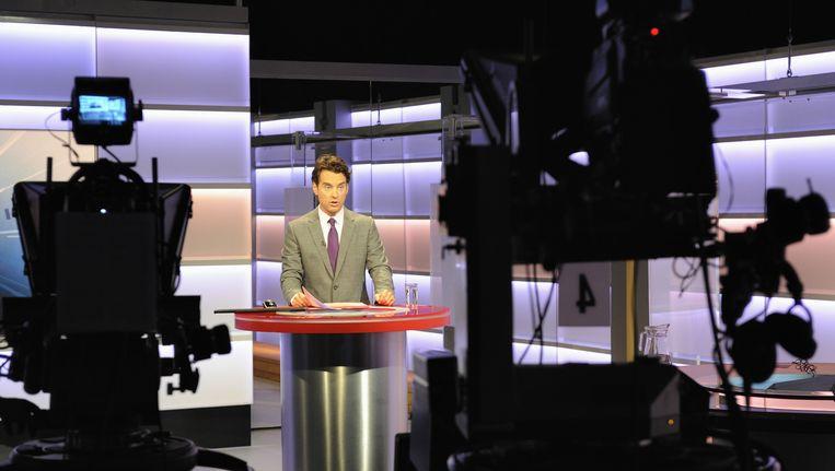 Een uitzending van het NOS Journaal. Beeld ANP