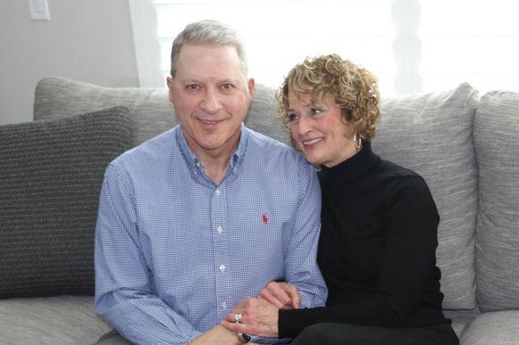 De Amerikaan Richard Norby, hier met vrouw Pamela, raakte drie jaar geleden zwaargewond bij de aanslagen.