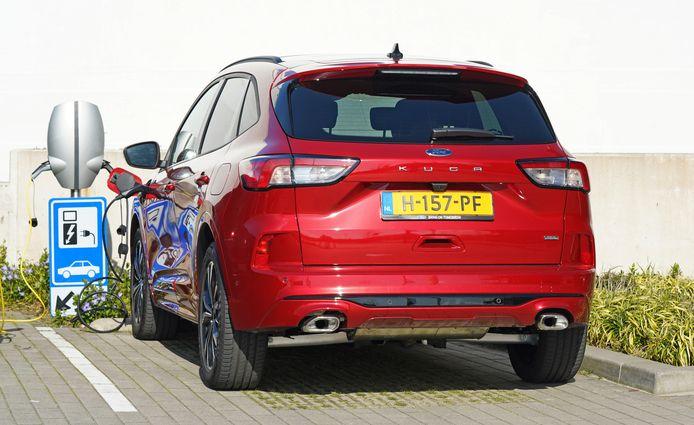 Onder ideale omstandigheden haalt de Kuga Plugin Hybrid 56 elektrische kilometers