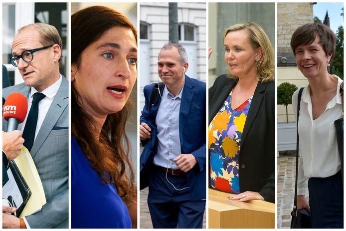 Bij N-VA zijn Ben Weyts en Zuhal Demir een zekerheid, twijfel is er nog over Matthias Diependaele, Liesbeth Homans en Cieltje Van Achter.