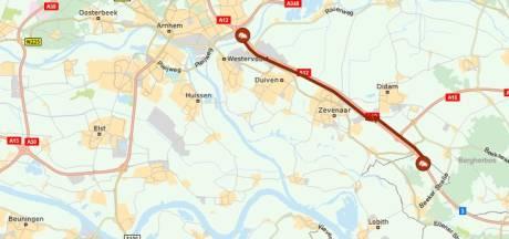 A12 bij Zevenaar weer vrijgegeven na ongeval