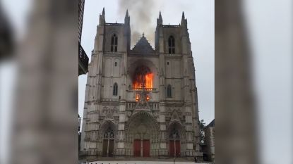 Brand in historische kathedraal van Nantes was waarschijnlijk het werk van brandstichters