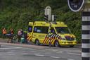 De ambulance heeft het slachtoffer afgevoerd.